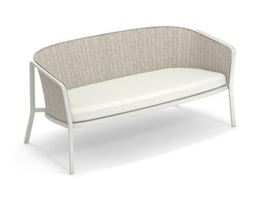 2 seater garden sofa in aluminum and synthetic rope CAROUSEL | Garden sofa