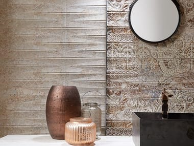 Ceramic wall tiles with textile effect CARPET | Wall tiles