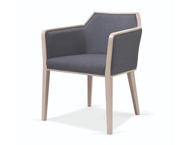 Cadeira estofada de tecido com braços CARPIEN MAPLE