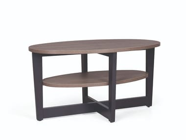 Oval wooden coffee table CARTER 300