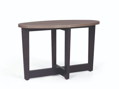 Oval wooden coffee table CARTER SP 300