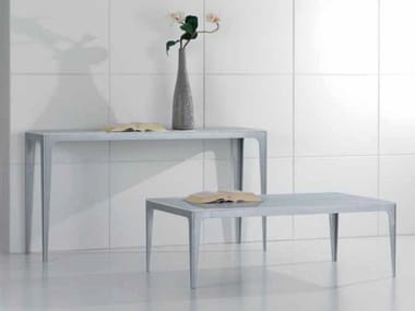 Rectangular Carrara marble console table CARTESIO | Console table