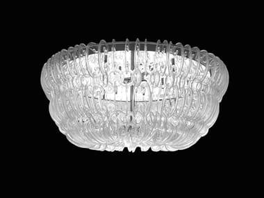 Luminária de teto LED de vidro de Murano CASANOVA | Luminária de teto
