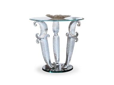 Tavolino rotondo in vetro CASANOVA | Tavolino alto