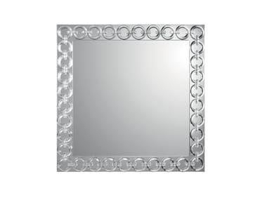 Specchio quadrato con cornice CASANOVA | Specchio quadrato