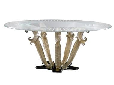Tavolo da pranzo rotondo in vetro CASANOVA SPECIAL | Tavolo rotondo