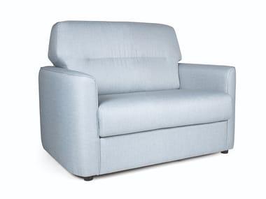 Fabric armchair with armrests CASCAIS SINGLE