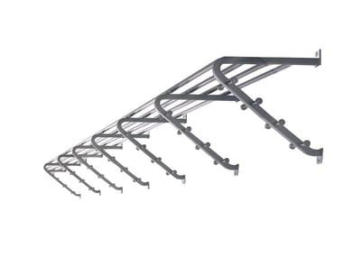 Metal coat rack / wall shelf CASSETTA
