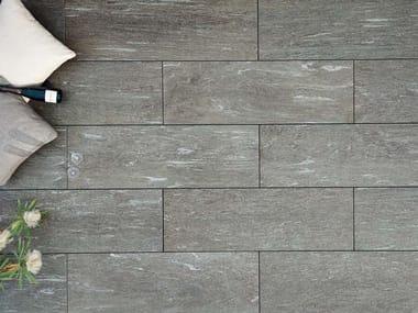 Indoor/outdoor flooring with stone effect ARENA CALANCA DARK