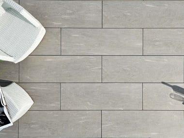Indoor/outdoor flooring with stone effect ARENA CALANCA LIGHT