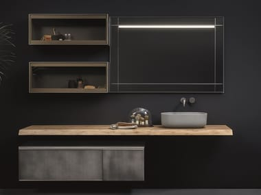 Wall-mounted vanity unit with mirror CASTELLO