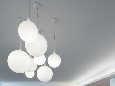 Blown glass pendant lamp CASTORE | Pendant lamp