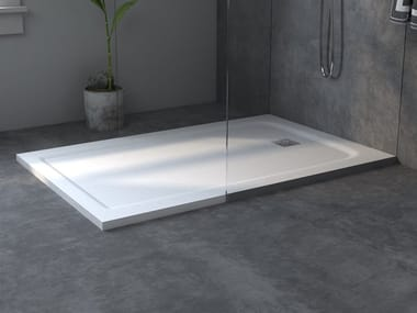 Rectangular extra flat Corian® shower tray CASUAL