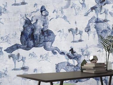 Papel de parede lavável de tecido não tecido CAVALLI CINESI