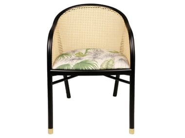 Beech armchair with linen seat CAVALLO | Linen armchair