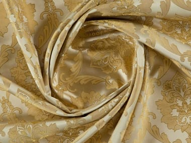 Damask jacquard polyester fabric for curtains CAVENDISH