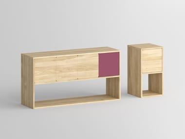 Madia in legno massello con ante a battente CAVUS | Madia