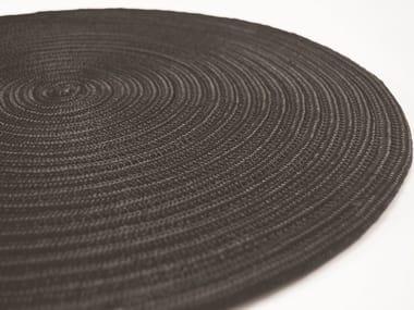 Handmade round rug CAYMAN PLAIN
