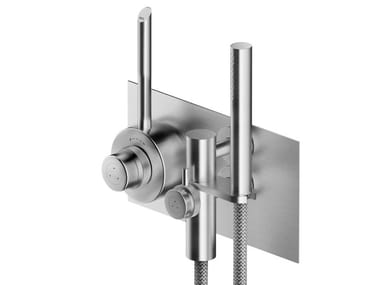 Stainless steel shower mixer with hand shower CB432 | Shower mixer