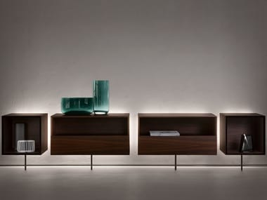 Wooden sideboard with integrated lighting CCCUBE