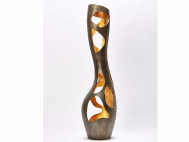 Gold leaf - Bronze decorative object / vase CECI N'EST PAS UN VASE