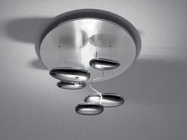 Lampada da soffitto a luce indiretta in acciaio inox MERCURY MINI | Lampada da soffitto