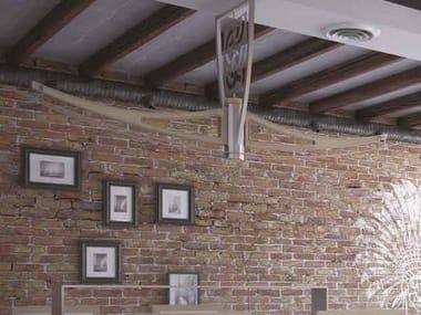 Lampada da soffitto in alluminio I DIFETTI PREZIOSI | Lampada da soffitto