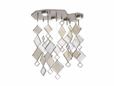 Lampada da soffitto a luce diretta in metallo QUADRIE | Lampada da soffitto