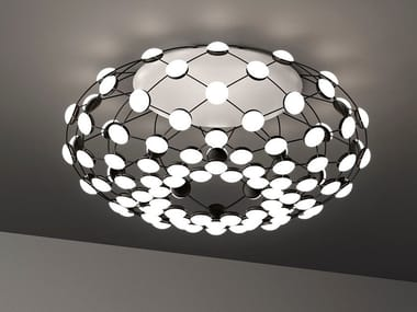 LED polycarbonate and steel ceiling lamp MESH | Ceiling lamp