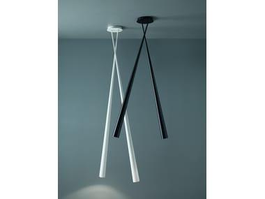 Lampada da soffitto a LED orientabile in fibra di carbonio DRINK | Lampada da soffitto