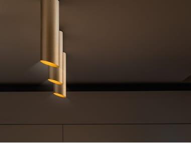 Glass-fibre ceiling lamp SLICE | Ceiling lamp