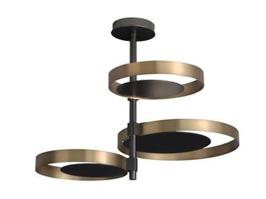 Lampada da soffitto a LED in ottone CIRCLE | Lampada da soffitto