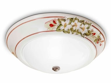 Plafoniera a luce indiretta in ceramica CAPUA | Plafoniera