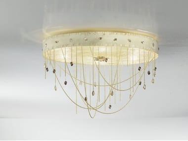 Plafoniere Cristallo E Acciaio : Lampade da soffitto con cristalli swarovski archiproducts