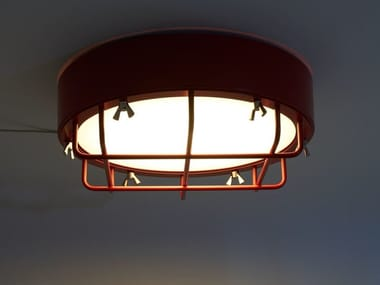 Plafoniera a luce diretta in ferro CANTIERE | Plafoniera
