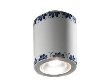 Faretto rotondo in ceramica a soffitto TRIESTE | Faretto a soffitto