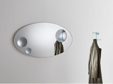Espelho oval de cristal de parede CELESTE | Espelho oval