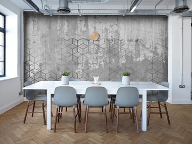 Wallpaper with concrete effect CEMENT