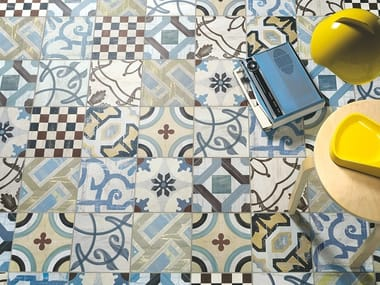 Porcelain stoneware wall/floor tiles CEMENTINE 20
