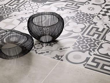 Porcelain stoneware wall/floor tiles CEMENTINE BLACK & WHITE