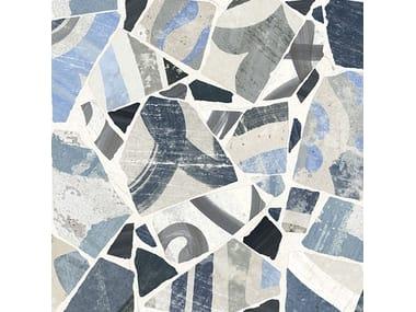 Pavimento/rivestimento in gres porcellanato CEMENTINE_COCCI BLU