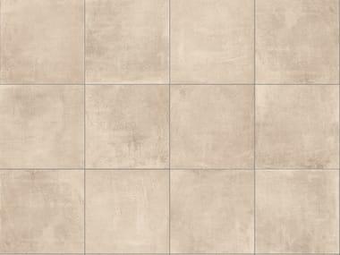 Porcelain stoneware outdoor floor tiles with concrete effect CEMENTO TAUPE 3CM