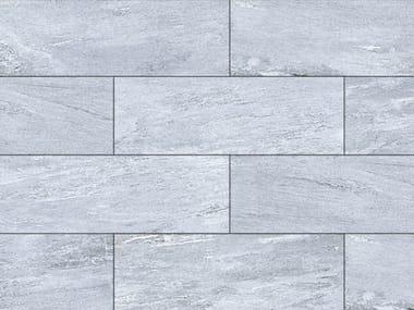 Porcelain stoneware outdoor floor tiles with stone effect CERVINO GREY