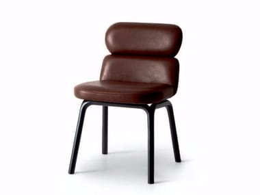 Upholstered leather chair BLISS | Leather chair