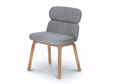 Upholstered fabric chair BLISS | Fabric chair