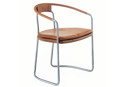 Steel chair with armrests GEOMETRIC | Chair