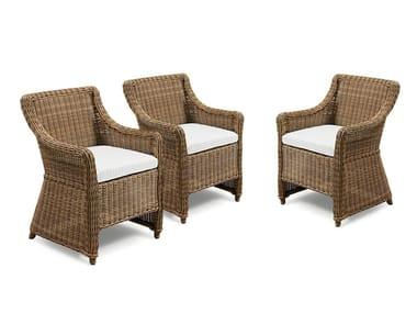 Garden easy chair with armrests CLOE | Garden easy chair