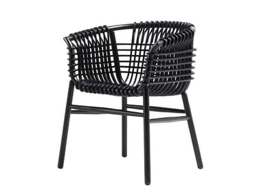 Rattan and Rubberwood chair LUKIS | Chair
