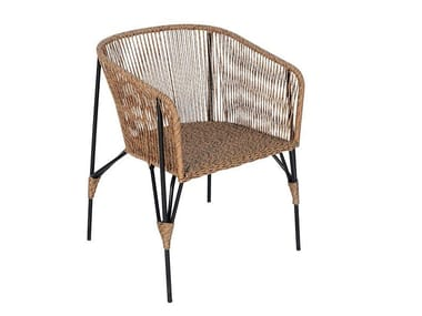 Synthetic fibre garden chair with armrests LODZ | Chair