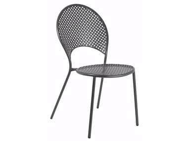 Stackable steel garden chair SOLE | Chair